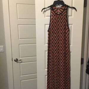 Zara knit multi color maxi dress